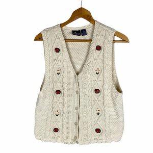 Vintage Liz Sport Crochet Sweater Vest